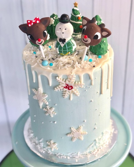 A Christmas bday cake over a year later